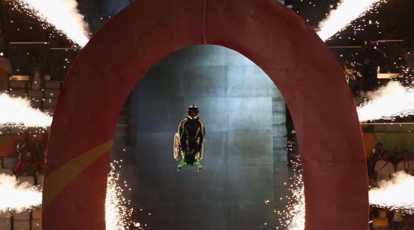 Aaron Wheelz realizanto el salto. Imagen extraída de Mundo Deportivo (Buda Mendes/Getty)
