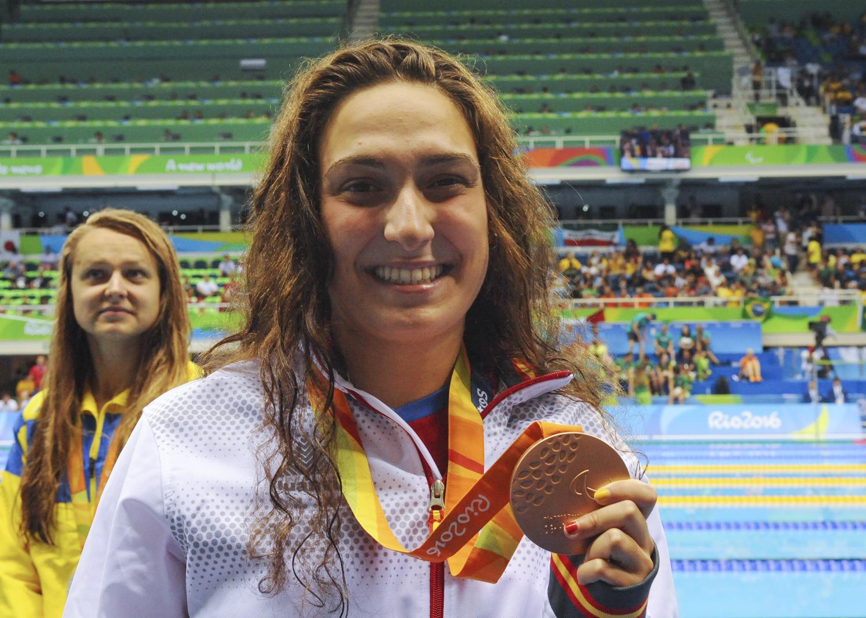 Ariadna Edo, medalla de bronce en 400 libres