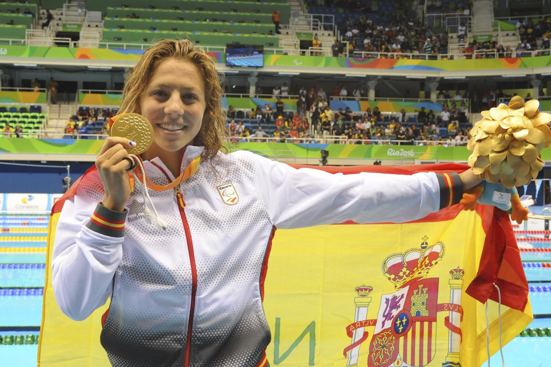 Nuria Marqués se cuelga el oro en la prueba 400 metros libre de natación