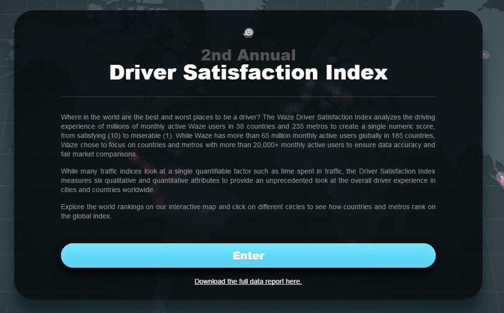 II Informe de Satisfacción de los Conductores realizado por Waze